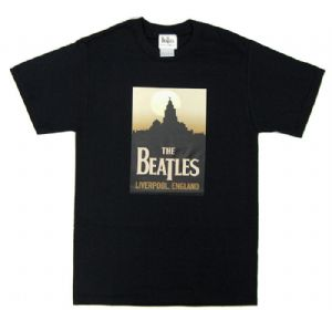 Beatles Liverpool Mens Black T-Shirt